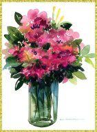 rhododendrons image, free downloadable flower cards