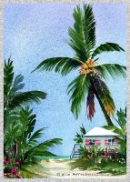 tropical beach image, free printable cards