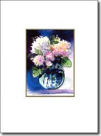 bowl of blooms birthday card image