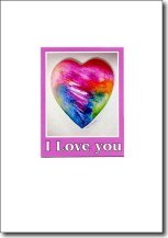 Colored Heart I Love You image