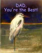 night heron image, free printable greeting cards