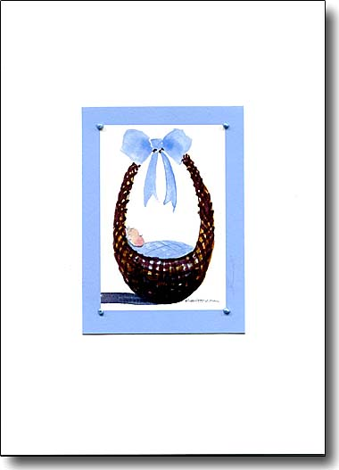 Baby in Blue Basket image