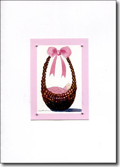 Baby in Pink Basket image