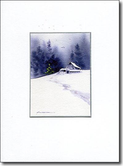 Barn in Snow image