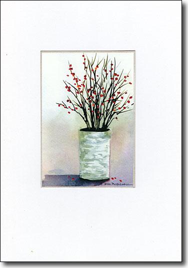berries in birch image