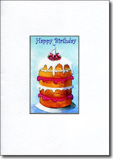 One Year Birthday Cake image