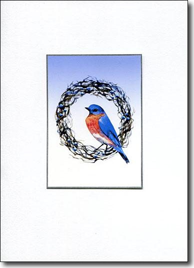 Bluebird on Grape Wreath image