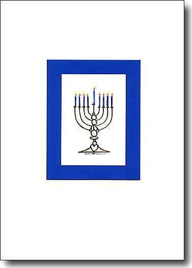 Blue Menorah image