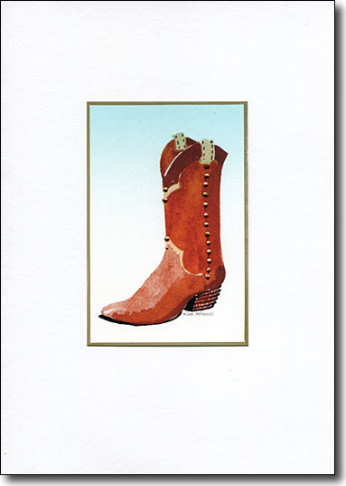 Boot on Blue image