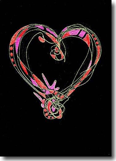 calligraphy heart