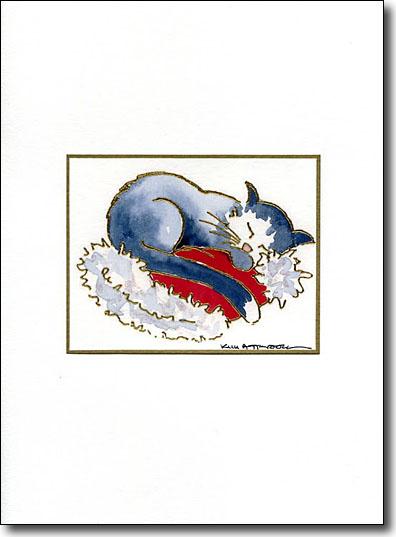 Cat on Santa Hat image