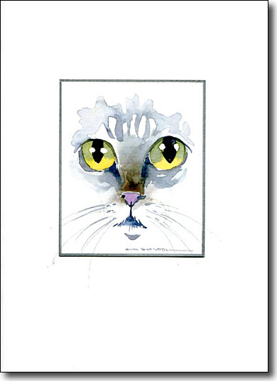 cat's eyes image, cat greeting cards