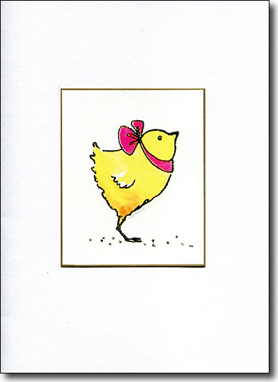 Chick with Pink Ribbon image