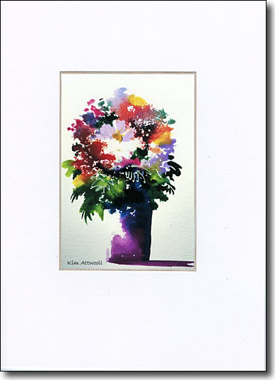 Color Flowers in Vase image