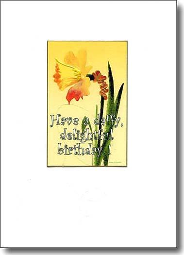 daffodil image birthday card