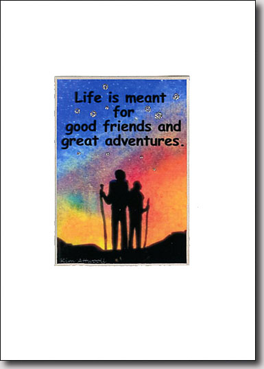 Evening Hikers Adventure Quote image