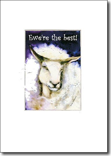 ewe're the best, handmade mothers day card