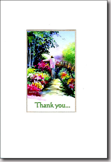 Flower Path Thank You image