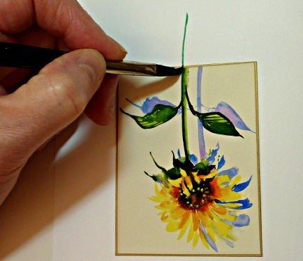flower stem image, handmade cards, embellishing images