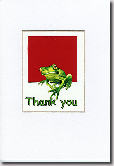 Frog on Red image