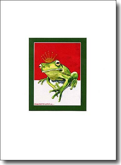 Frog Prince valentine card
