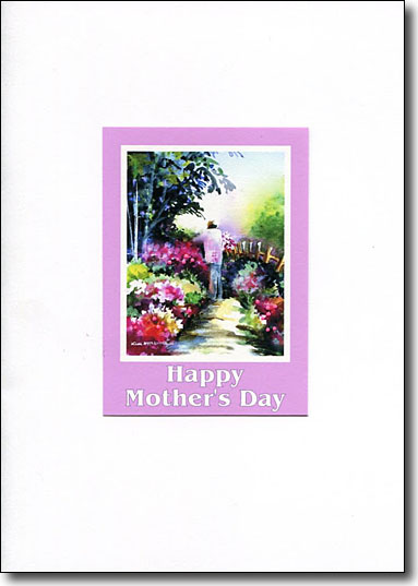garden path mothers day card
