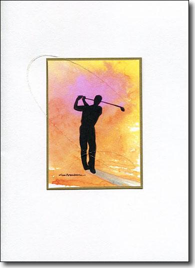 Golfer on Gold image