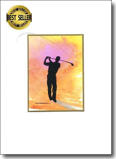 Happy Father's Day Golfing image