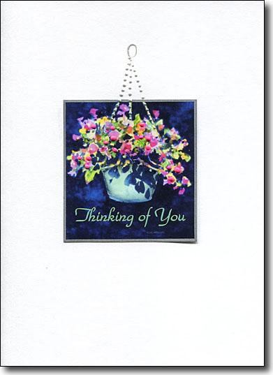 Hanging Flowers Thinking of You image