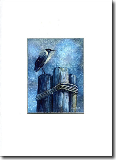Heron on Piling image