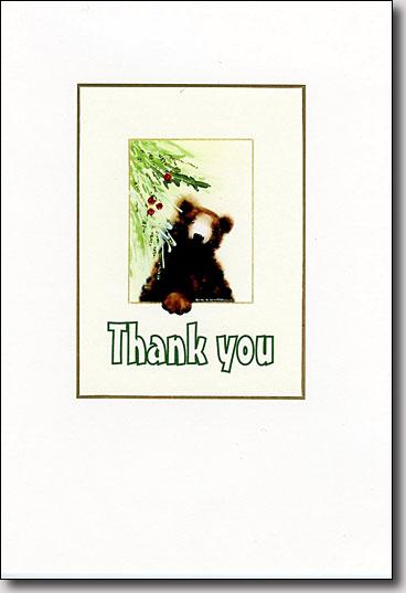 Holiday Bear Thank You image