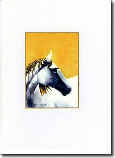 Horse Head on Gold image