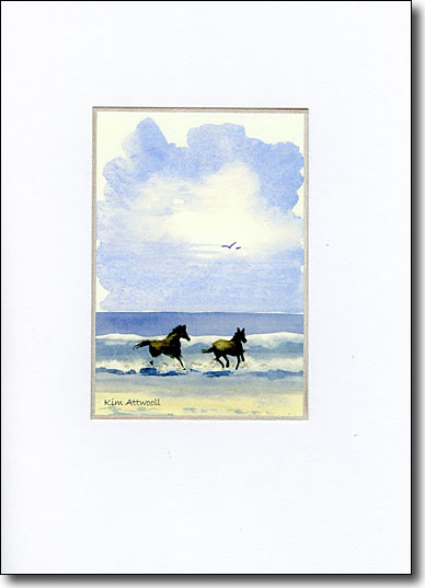 Horses in Surf image