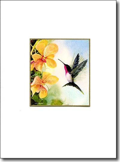Hummingbird & Orchid image