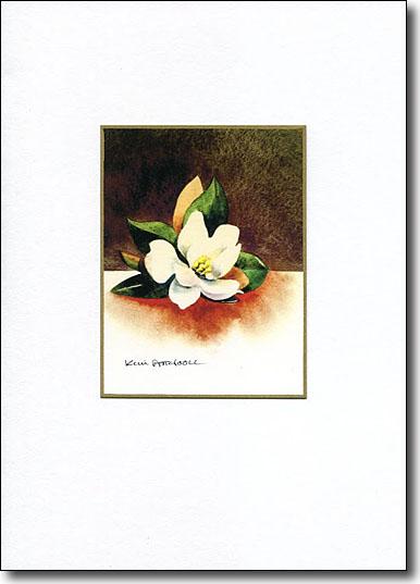 Magnolia on Brown image