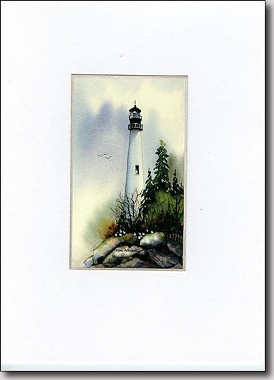 Misty Lighthouse image