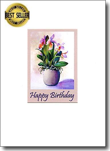 Orchid Happy Birthday image