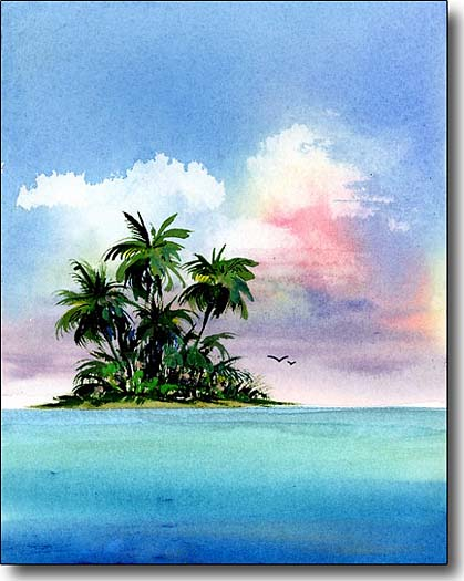 tropical island image