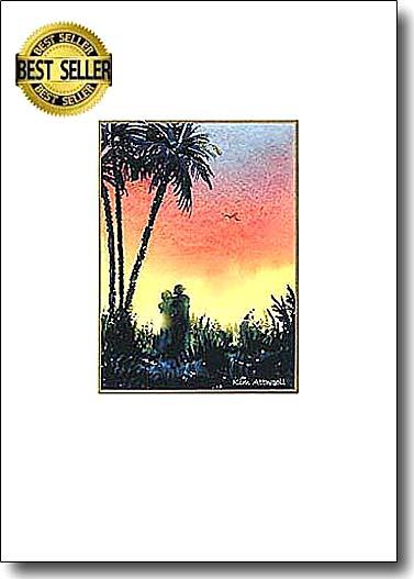 Palm Sunset Couple image
