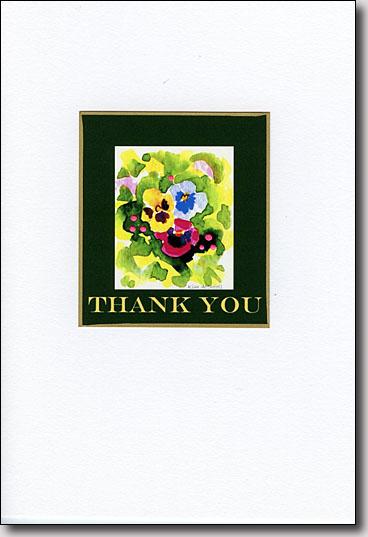 Pansies Thank You image