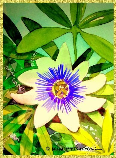 passionflower image, card making ideas