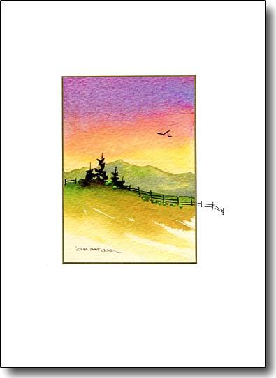 pastel landscape image