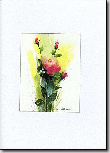 Pink Rose on Yellow image