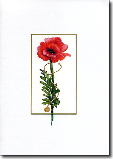 poppy and stethoscope card