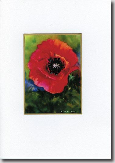 Poppy Bloom on Green image
