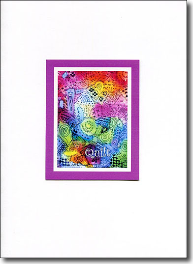 Quilt Card, quilting ideas