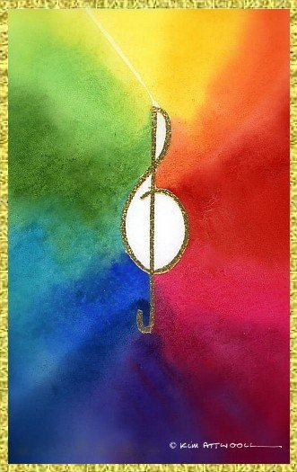treble clef image, free downloadable cards