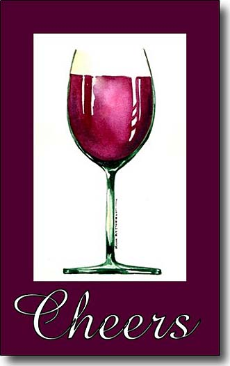 red wine cheers