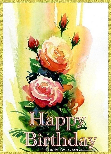 roses birthday card, free downloadable birthday cards, roses image