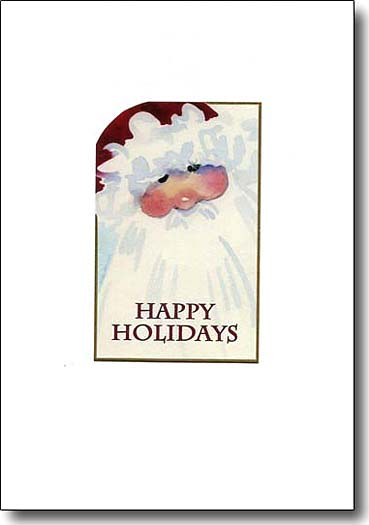 happy holidays santa, holiday card